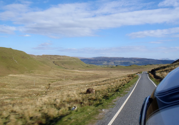 Riding to Ardnamurchan - Taken by Veronica on Allister's Bike