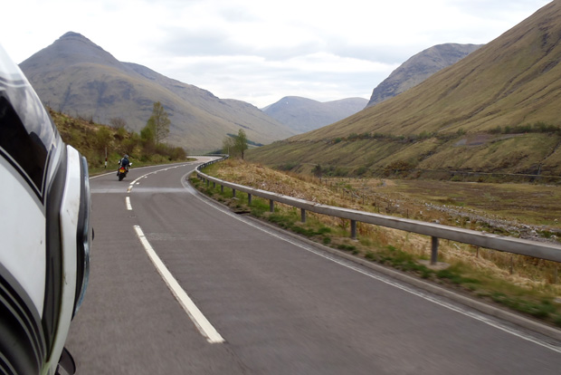 Riding over Glencoe - Taken by Veronica on Allister's Bike