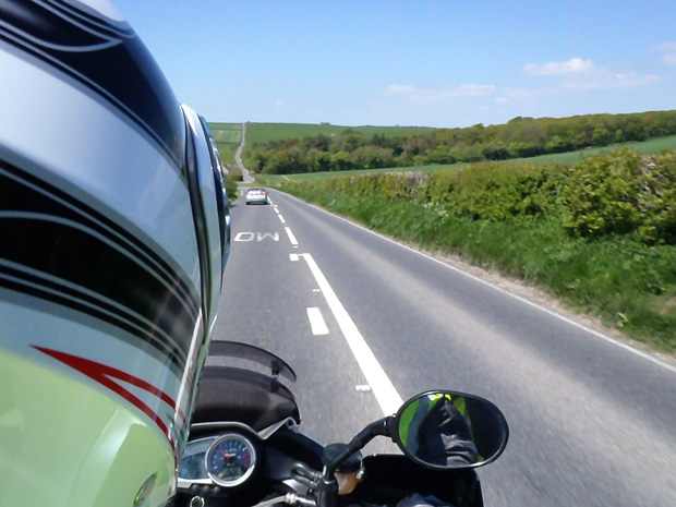 Riding through Cornwall - Taken by Veronica on Allister's Bike